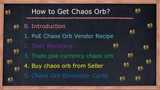 Path of Exile Chaos Orb Vendor Recipe Picking up chaos orb that dropped Trade poe currency chaos orb Buy chaos orb from Seller Chaos Orb Divination Cards Vendor Recipe, Farming Guide, Divination Cards