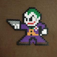 Joker perler beads by GeekCraftByJess on Etsy, $8.00