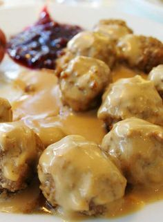 This Copycat IKEA Swedish Meatballs recipe tastes just like the ones from Ikea. The savory pork and beef meatballs are coated in a rich sour cream sauce – you won't be able to get enough! Ground Beef Recipes, Pork Recipes, Cooking Recipes, Copycat Recipes, Sauce Recipes, Swedish Meatball Recipes, Swedish Recipes, Swedish Meatballs Ikea Recipe, Sour Cream Sauce