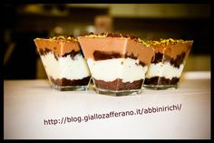 Bicchierini finger food pistacchio e cioccolato