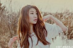 Light Brown Asian Hair with Gold Tones