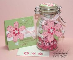 Friendship Blooms Jar by myfairlady2511 - Cards and Paper Crafts at Splitcoaststampers