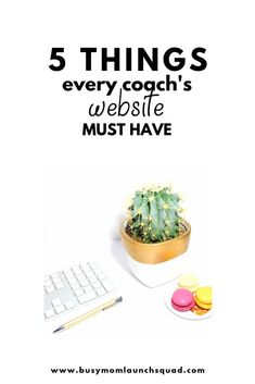 Your coaching business needs a website! Here's exactly what you need to put on it so you can book more clients