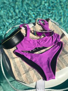 Purple bikini underwire 2020 Purple Bikini, Bright Purple, Bikini Fashion, Cool Suits, Bra Sizes, Bikini Set, Stretch Fabric, Fitness, Model