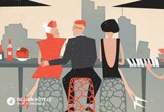 Design Hotels™ Community Illustration