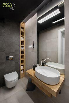 #smallbathroomblack#smallbathroom#essa#ewasłota#interiordesign#architektwnętrz Bathroom Design Small, Bathroom Lighting, Toilet, Bathtub, Bathroom Black, Mirror, Bathrooms, Furniture, Home Decor