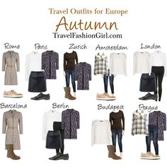 European Backpacking in Autumn - Outfits by travelfashiongirls, via Polyvore
