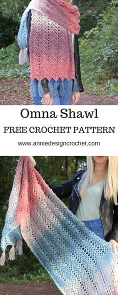 Cosy, squishy and huge, this free pattern for a crochet shawl makes a lovely crochet blanket scarf to add style to your winter outfits. Wear it as a wrap around your shoulders, or as a cosy scarf t… Crochet Prayer Shawls, Crochet Shawl Free, Crochet Wrap Pattern, Crochet Gratis, Crochet Shawls And Wraps, Crochet Scarves, Crochet Clothes, Crochet Patterns, Prayer Shawl Crochet Pattern