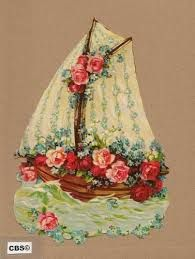 Image result for victorian scrap paper boat ship