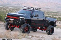 Black Duramax - Chevy---- my dream devil truck Lowered Trucks, Jacked Up Trucks, Gm Trucks, Diesel Trucks, Cool Trucks, Chevy Trucks, Pickup Trucks, Cool Cars, Chevy Duramax