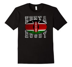 #Kenya Rugby Fans National Flag #Rugby Ball #TShirt your #Rio2016 teams #rugby7s #olympics  http://amzn.to/2a7n6zx