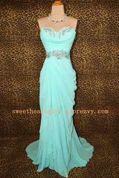 Processing time: 18 business days Shipping Time: 7-10 business days  Category: Occasion Dresses Material: Chiffon Shown Color: Ice blue Silhouette: A-Line Embellishment: Beadings Hemline: Floor-Length Neckline: Strapless Sleeve Length: Sleeveless Back Details: Zipper-up Body Shape: Al...