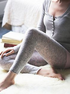 Intimately Close Call Cashmere Leggings at Free People Clothing Boutique Cashmere Leggings, Cashmere Sweaters, Look Boho Chic, Sleepwear & Loungewear, Lingerie Sleepwear, Nightwear, Pajamas All Day, Casual Outfits, Cute Outfits