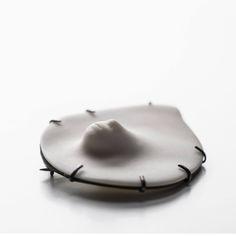Julia Volmann, Austria, white comporary jewelry design brooch