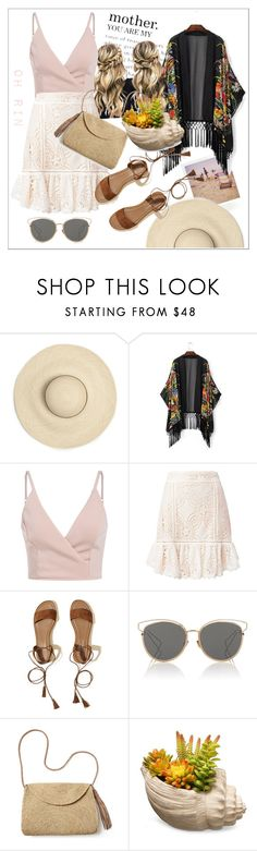 """vacation"" by rindularas on Polyvore featuring Polaroid, Flannel, Hollister Co., Christian Dior, Mar y Sol and National Tree Company"