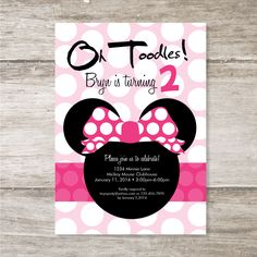 Minnie+Mouse+Birthday+Party+Invitation++Set+of+15+by+Sassyrae,+$26.25