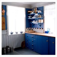 Cobalt Blue Kitchen
