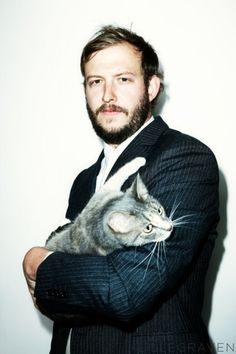 Justin Vernon... And a cat.