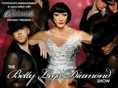 The Betty Legs Diamond Show @ VIVA Blackpool (3 Church Street, Blackpool, FY1 1HJ, United Kingdom) . On Monday July 28, 2014 at 5:30 pm - 10:30 pm . One of Blackpool's most famous showbiz names Betty Legs Diamond is back in town for a one night special not to be missed! Artists: Betty Legs Diamond, Broadway Dancers, Miss Rory . Price:  Diamond & Silver Seating: 13.90,Gold Seating: 15.90,3 Course Dinner and Show (Gold Seating): 32.90 . URL:  Booking  http://atnd.it/11437-0