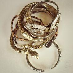 Snake Bangles.  Including my fave by Pamela Love, available at www.bonadrag.com