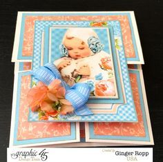 Learn how to make this Precious Memories Dutch Fold Card with a video tutorial from Ginger #graphic45