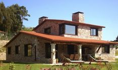 Discover recipes, home ideas, style inspiration and other ideas to try. Style At Home, House In The Woods, My House, Dordogne, Spanish House, Mediterranean Homes, House Extensions, Stone Houses, Villa
