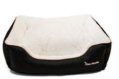 Special Offers - The Three Marbles Pet Bed Machine Washable Extra Cover Cream/Brown 26x24x7 - In stock & Free Shipping. You can save more money! Check It (June 24 2016 at 06:33AM) >> http://dogcollarusa.net/the-three-marbles-pet-bed-machine-washable-extra-cover-creambrown-26x24x7/