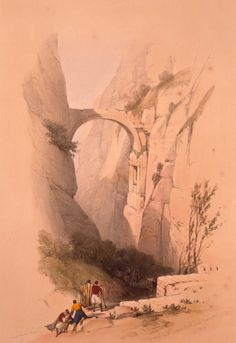 The_Triumphal_Arch_crossing_the_Ravine_leading_to_Petra)_by_David_Roberts,_RA.jpg (1759×2560)