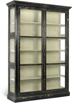 Large Rustic Glass Cabinet in Black or Cream (Sideboards & display cabinet) | image 3