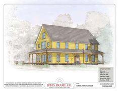 Timber Frame House Plan of Davis Frame Company Elevation