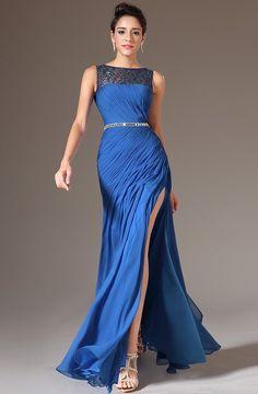 Elegante Azul, Vestido Azul, Dem Buscar, Azul Largo, Fiesta, Mujer, Edressit Azul, Edressit 2014, Vestidos De Dama De Honor De Encaje