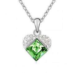 Austrian Crystal Necklace Swarovski Elements - Love In The Heart