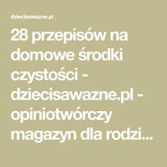 28 przepisów na domowe środki czystości - dziecisawazne.pl - opiniotwórczy magazyn dla rodziców