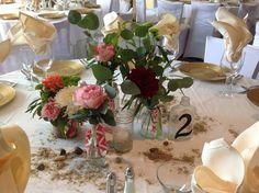Liz & Tim | Salero | DE beach wedding | Pink Centerpieces | Beach Theme | Encore Events by Angie Gillis | Event Florist