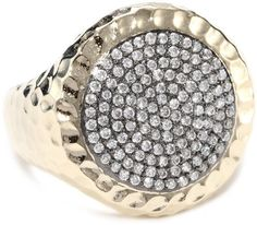 "Phillips Frankel ""Affair"" Large Diamond Gold Ring, Size 7 on shopstyle.com"