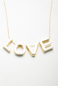 620da0f52d1b2a Spell it Out Love Charm Necklace Set - Gold from Jewelry   Accessories at  Lucky 21