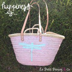 Summer bag/ capazo / Panier / cesta/ basket/ beach tote/ Dragonfly/ libélula  Más modelos e info en http://lepetitpanierandco.blogspot.com