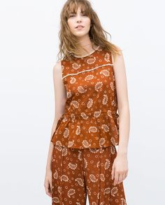 Image 1 of PRINTED SHIRT WITH YOKE from Zara
