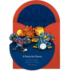 Customizable Skylanders Group Online Invitations Easy To Personalize And Send For A Birthday Party