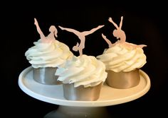 Gymnastics 30 Edible Cupcake Toppers Cake Toppers by Silvermisted