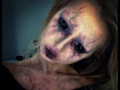I don't understand a thing because she is French - but she is so scary!!! Very nice makeup!