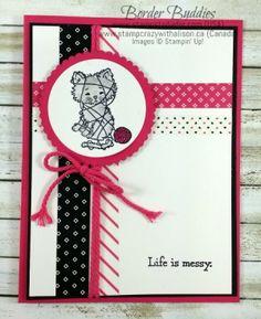 Border Buddy Saturday - Pretty Kitty Stamp Set