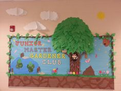 A friend and I made this bulletin board for our daughters' school's Junior Master Gardener Club.