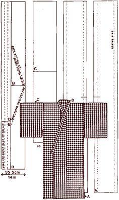 Как сшить женское кимоно