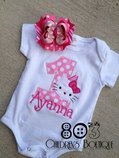 Custom Hello Kitty First Birthday Boutique by 803childrensboutique