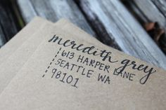 Personalized, beautiful, handwritten return address envelopes for any occasion. on Etsy, $0.75