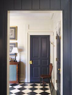 blue interior doors -- House in Birmingham - James F. & navy blue interior doors LOVE!! Portfolio :: Pineridge street ...