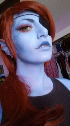 """pumpkinetics: """""""" More pics from my Undyne cosplay test """" (Mettaton pictures here) """" Halloween Fairy, Halloween Masquerade, Halloween 2016, Epic Cosplay, Amazing Cosplay, Cosplay Costumes, Cosplay Ideas, Undyne Cosplay, Costume Tutorial"""