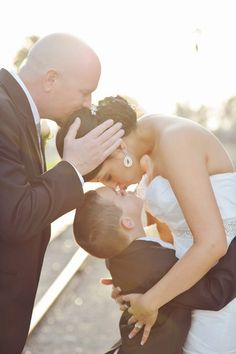 The brides two main men - great way to showcase a growing family {AlliChelle Photography}