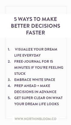 5 Ways To Make Better Decisions Faster | Join My FREE Dream Life Challenge!